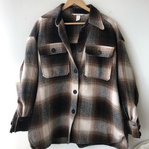 Plaid shirt jacket (shacket)